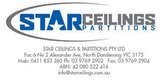 Star Ceilings and Partitions
